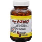 Raw Adrenal Glandular Concentrate 60 Caps, Natural Sources