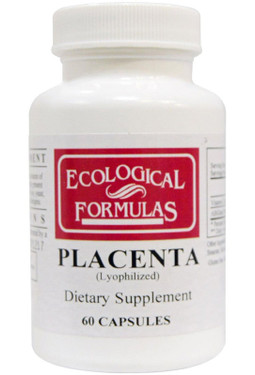 Buy Ecological Formulas Placenta (Lyophilized) 60 Caps Cardiovascular Research Online, UK Delivery, Cold Flu Remedy Relief Immune Support Formulas