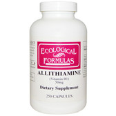 Buy Ecological Formulas Allithiamine (Vitamin B1) 50 mg 250 Caps Cardiovascular Research Online, UK Delivery, Vitamin B1 Thiamin