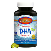 Buy Chewable DHA For Kids Bursting Orange Flavor 120 Chewable sGels Carlson Labs Online, UK Delivery, EFA Omega EPA DHA