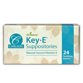 Key-E Suppositories Natural Vitamin E 24 Inserts Carlson Labs