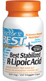 Stabilized R-Lipoic Acid 100 mg 60 Caps Doctor's Best, Antioxidants, UK Supplements