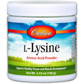 Buy L-Lysine Amino Acid Powder 3.53 oz (100 g) Carlson Labs Online, UK Delivery, Amino Acid