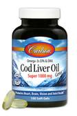 Buy Cod Liver Oil Gems Super 1000 mg 100 sGels Carlson Labs Online, UK Delivery, EFA Omega EPA DHA