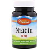 Buy Niacin 50 mg 300 Tabs Carlson Labs Online, UK Delivery, Vitamin B3 Niacin