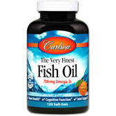 Buy The Very Finest Fish Oil Orange 1000 mg 120 sGels Carlson Labs Online, UK Delivery, EFA Omega EPA DHA