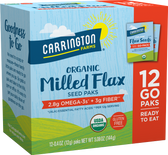 Buy Organic Flax Paks Milled Flax Seeds 12 Packs .4 oz (12 g) Each Carrington Farms Online, UK Delivery, Gluten Free Snacks