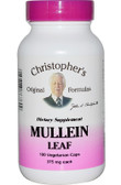 Buy Mullein Leaf 375 mg 100 Veggie Caps Christopher's Original Online, UK Delivery, Lung Bronchial Remedy Relief Respiratory Treatment Mullein Formulas