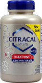 Citracal +D3 Calcium Citrate Maximum 180 Coated Caplets Citracal