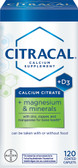 Buy Calcium Citrate + Magnesium & Minerals +D3 120 Coated Caplets Citracal Online, UK Delivery, Mineral Supplements