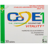 Buy The Energizing Co-Enzyme 1 Vitality+ 5 mg 30 Tabs Co - E1 Online, UK Delivery, Enada Stress Support Remedy Relief