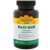 Buy Maxi-Hair 90 Tabs Country Life Online, UK Delivery, Vitamins For Women Hair Nails Skin Women's Supplements Hair Regrowth Treatments