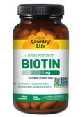 Buy Biotin High Potency 5 mg 120 Vegan Caps Country Life Online, UK Delivery, Vitamin B Biotin