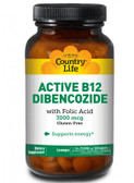 Buy Active B12 Dibencozide 3000 mcg 60 Lozenges Country Life Online, UK Delivery, Vitamin Coenzymated B Complex