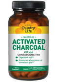 Buy Activated Charcoal 260 mg (4 g) 100 Caps Country Life Online, UK Delivery, Mineral Supplements