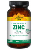 Buy Zinc 50 mg 180 Tabs Country Life Online, UK Delivery, Mineral Supplements