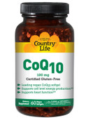 Buy CoQ10 100 mg 120 Vegan sGels Country Life Online, UK Delivery, Coenzyme Q10