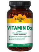 Buy Vitamin D3 1000 IU 200 sGels Country Life Online, UK Delivery, Vitamin D3