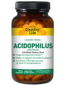 Buy Acidophilus with Pectin 250 Veggie Caps Country Life Online, UK Delivery, Probiotics Acidophilus