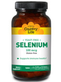 Buy Selenium 100 mcg 180 Tabs Country Life Online, UK Delivery, Antioxidant Gluten Free