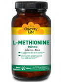 Buy L-Methionine 500 mg 60 Tabs Country Life Online, UK Delivery, Amino Acid