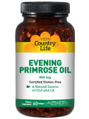 Buy Evening Primrose Oil 500mg 60 sGels Country Life Online, UK Delivery, EFA Omega EPA DHA