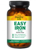 Buy Easy Iron 25 mg 90 Veggie Caps Country Life Online, UK Delivery, Mineral Supplements