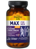 Buy Max for Men Multivitamin & Mineral Iron-Free 120 Veggie Caps Country Life Online, UK Delivery, No Iron Multivitamins