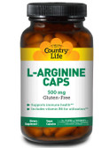 Buy L-Arginine Caps 500 mg 100 Veggie Caps Country Life Online, UK Delivery, Amino Acid