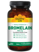 Buy Bromelain Triple Strength 500 mg 60 Tabs Country Life Online, UK Delivery, Enzymes