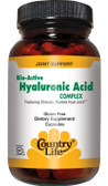 Buy Bio-Active Hyaluronic Acid Complex 90 Caps Country Life Online, UK Delivery, Anti Aging Treatment Supplements Hyaluronic Acid