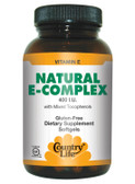 Buy Natural E-Complex with Mixed Tocopherols 400 IU 180 sGels Country Life Online, UK Delivery, Vitamin E Tocotrienols