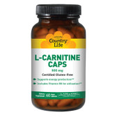 Buy L-Carnitine Caps 500 mg 60 Vegan Caps Country Life Online, UK Delivery, Amino Acid