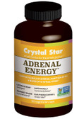 Buy Adrenal Energy 60 Veggie Caps Crystal Star Online, UK Delivery, Energy Boosters Formulas Supplements Fatigue Remedies Treatment