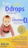 Buy Baby Liquid Vitamin D3 400 IU 0.08 oz (2.5 ml) 90 Drops D Drops Online, UK Delivery, Baby Infant Supplements