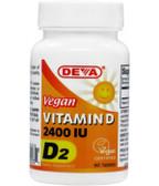 Buy Vitamin D D2 Vegan 2400 IU 90Tabs Deva Online, UK Delivery, Vitamin D 2 Ergocalciferol Vegan Vegetarian