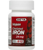 Buy Vegan Chelated Iron 29 mg 90 Tabs Deva Online, UK Delivery, Mineral Supplements