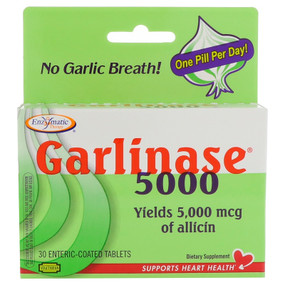 Garlinase Fresh 30 Tabs Enzymatic , Garlic with Allicin