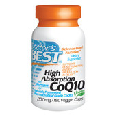 Buy High Absorption CoQ10 200 mg 180 Veggie Caps Doctor's Best Online, UK Delivery, Coenzyme Q10