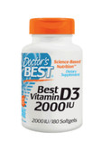 Buy Best Vitamin D3 2000 IU 180 sGels Doctor's Best Online, UK Delivery,