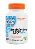 Buy Best Benfotiamine 150 150 mg 120 Veggie Caps Doctor's Best Online, UK Delivery, Benfotiamine Vitamin B
