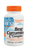 Buy Best Curcumin C3 Complex with BioPerine 1000 mg 120 Tabs Doctor's Best Online, UK Delivery, Antioxidant Curcumin C3 Complex
