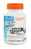 Buy Natural Vitamin K2 45 mcg 60 Veggie Caps Doctor's Best Online, UK Delivery, Bone Osteo Support Formulas