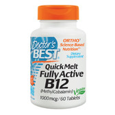 Buy Quick Melt Fully Active B12 1000 mcg 60 Tabs Doctor's Best Online, UK Delivery, Vitamin B12 Methylcobalamin Vegan Vegetarian