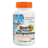 Buy Best High Potency Serrapeptase 120 000 SPUs 270 Veggie Caps Doctor's Best Online, UK Delivery, Enzymes Serrapeptase