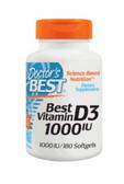 Buy Best Vitamin D3 1000 IU 180 sGels Doctor's Best Online, UK Delivery,