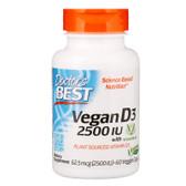 Buy Best Vegan D3 2500 IU 60 Veggie Caps Doctor's Best Online, UK Delivery, Vitamin D3 Vegan Vegetarian