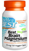 Buy Best Brain Magnesium 75mg 60 Veggie Caps Doctor's Best Online, UK Delivery