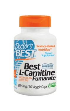 Buy Best L-Carnitine Fumarate 855 mg 60 Veggie Caps Doctor's Best Online, UK Delivery, Amino Acid