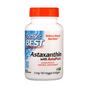 Buy Best Astaxanthin 6mg 90 Softgels, Doctor's Best Online, UK Delivery, Antioxidant